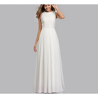 Women, Elegant Beading, A Line Pleated, Chiffon Lace, Party Gown Dresses