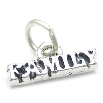 Family Sterling Silver Small Charm .925 X 1 Families Caring Love Charms - 3808