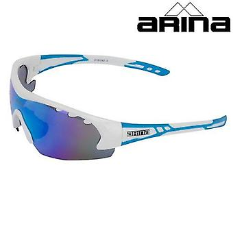 Arina Revolution Sunglasses (White/Blue) - Ice Blue Revo Lens