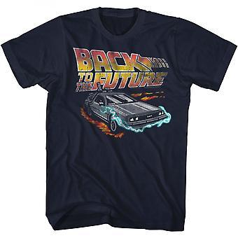 Takaisin tulevaisuuteen DeLorean Logo T-paita
