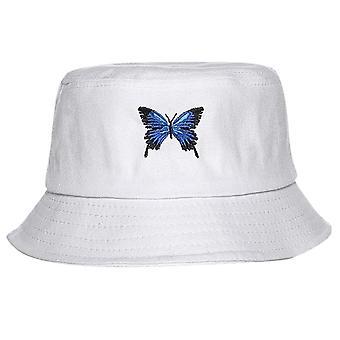 فراشة التطريز للطي دلو قبعة