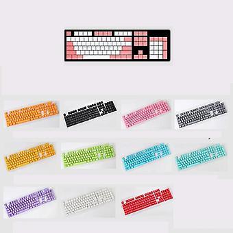 104/87 Key Pbt Double Color Backlight Gk61 Clavier mécanique Keycap