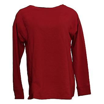 Cuddl Duds Women's Top Comfortwear Pullover Red A381694