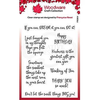 Woodware Francoise Lue selkeät sinkut Ystävällisyys 4 x 6: ssa selkeässä leimassa