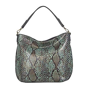 Bulaggi Protea Snake Print Hobo Shoulder Bag Size 25x28x10cm - Emerald Green