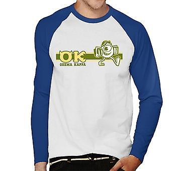 Pixar Monsters Inc Mike Wazowski Oozma Kappa Ok Men's Honkbal T-Shirt met lange mouwen