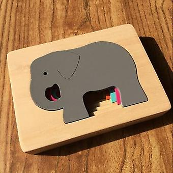 Lapset Eläin Sarjakuva 3D Puzzle Monikerroksinen Palapelit