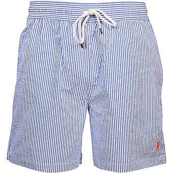 Polo Ralph Lauren Striped Seersucker Swim Shorts, Royal Blue