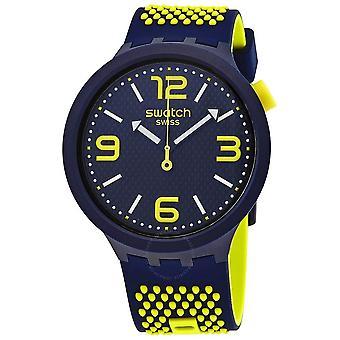 Swatch BBNEON Quarz blau Zifferblatt Männer's Uhr SO27N102