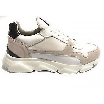 Pantofi pentru barbati Ambitious 10486 Sneakers Color White / Grey / Black Bottom High U21am15