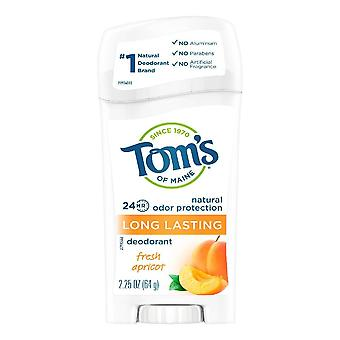 Tom's of maine long lasting natural deodorant, fresh apricot, 2.25 oz
