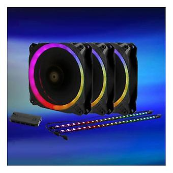 Antec Prizm 120Mm Argb Fan 3+2+C 3X Rgb Dual Ring Pwm Fan