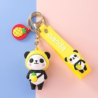 Cartoon Fruit Panda Keychain