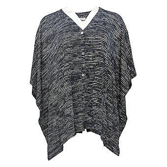 LOGO by Lori Goldstein Women's Sweater Trouser Optic White Blue A374850
