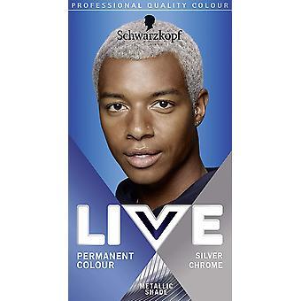 Schwarzkopf Live Pysyvä Hiusten väri miehille Hopea Chrome U71