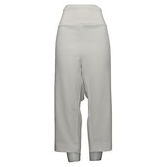 Antthony Women's Plus Pants Tummy Smoothing Pedal Pusher White 695063