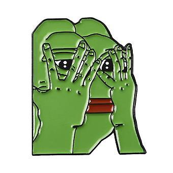 Tegneserie Frosk meme emalje pinner, dyr brosje merke, smykker for venner