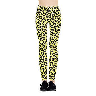 Kukubird Leopard Leggings Yellow