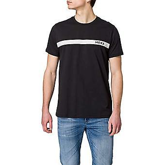 Mexx Crewneck Print T-Shirt With Crew neckline, Black, XL Men's