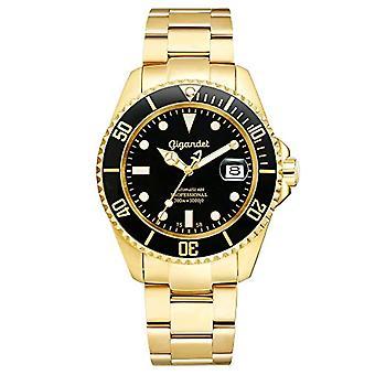 Gigandet Sea Ground Analog Diving Watch Man Black Gold G2-004