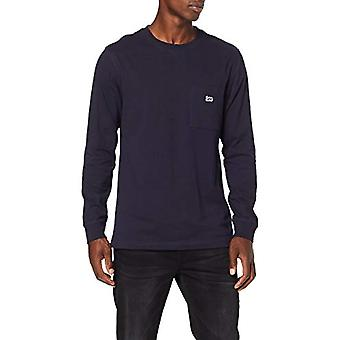 Lee Authentic Pkt T LS T-Shirt, Blue (Midnight Navy Ma), XX-Large Men