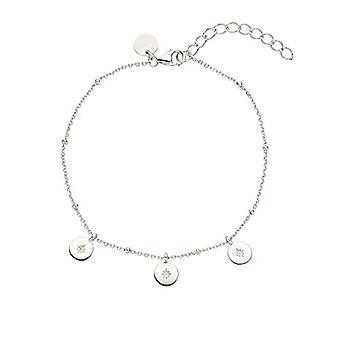 """OELANI - Women's bracelet in silver 925 with zircons, """"Stars&Moon""""(1"""