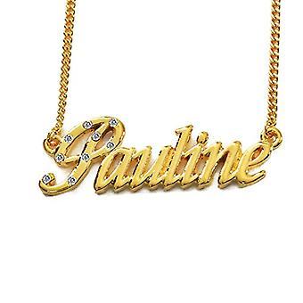 """L Pauline - 18 karaattinen kullattu kaulakoru, muokattavissa nimi, säädettävä ketju 16""""- 19"""", Regal Packaging"""