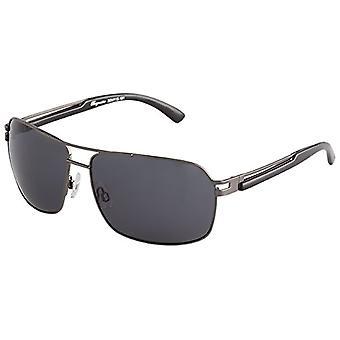 Burgmeister - نظارات شمسية SBM115-181 مستطيلة، رجالية، رمادية