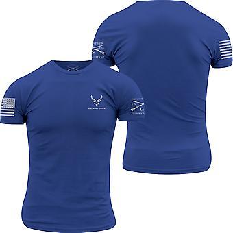 نخر نمط USAF - الأساسية الشعار تي شيرت - الأزرق الملكي