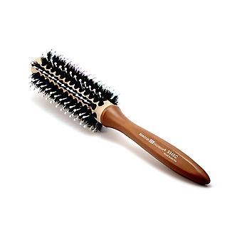 Radial ceramic hair brush with boar bristles 9346