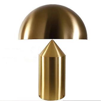 מנורת שולחן מתכת פטריות, חדר שינה ליד המיטה חדר תצוגה מודל קישוט מסוגנן, ברזל LED זהוב