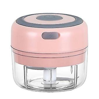 150Ml pink mini rechargeable wireless electric garlic masher kitchen household tool meat grinder making complementary food az20308
