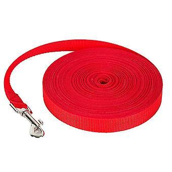 2Pcs 1.2m * 2cm rojo 50m correa de perro mascota, correa de seguimiento al aire libre para perros grandes az325