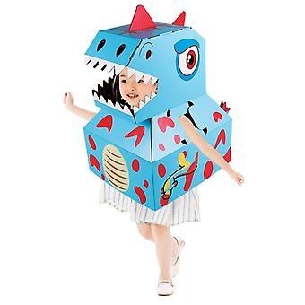 Kids Dinosaur Dress Up Wearable Diy Carton Paper Clothes Toys Children's Performance Clothing