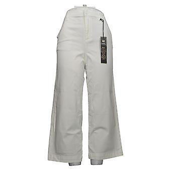 DG2 by Diane Gilman Women's Jeans Reg Stretch Wide-Leg Chino White 698297