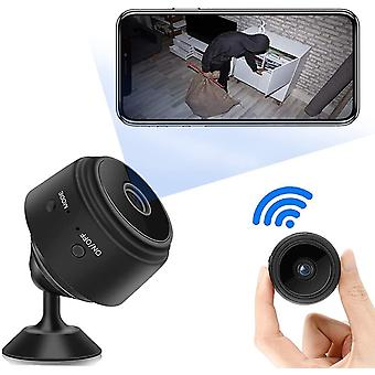 واي فاي ميني جاسوس الكاميرا الخفية 1080P HD كاميرا IP اللاسلكية (أسود)