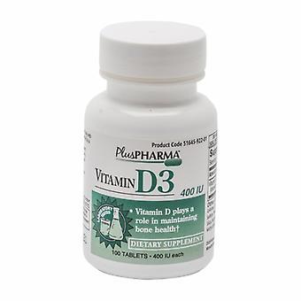 Plus Pharma Vitamin D3, 400IU, 100 Tabs