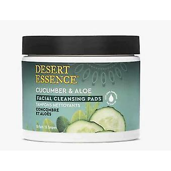 Desert Essence Cucumber & Aloe Cleansing Facial Pads, 50 Count