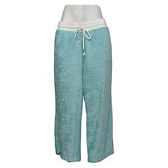 Cuddl Duds Women's Pants Pull On Cropped Leg Aqua A346878