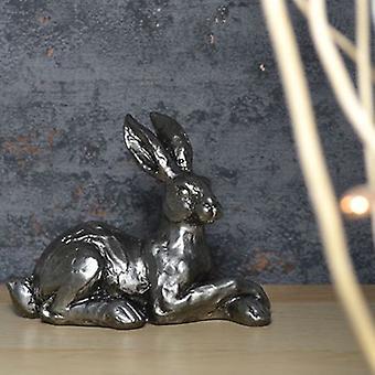 Sølv hare poter krysset ornament 13.5cm