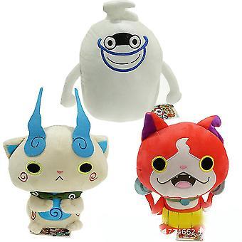 Yo-kai Yokai Watch Plüss baba Jibanyan Komasan Whisper Youkai Plüss medál játékok töltött baba