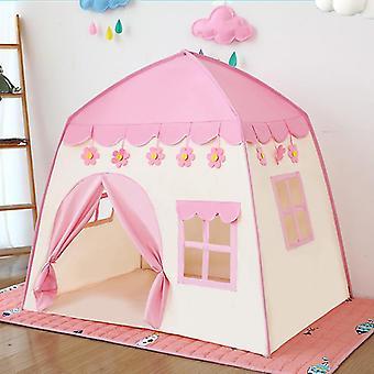 Παιδιά σκηνή παιδί αναδιπλούμενο παιχνίδι σκηνή σπίτι για τα παιδιά εσωτερική πριγκίπισσα κάστρο παιδιά σκηνή δώρα (ροζ)
