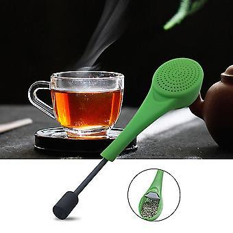 Mooie lepel ontwerp siliconen totale thee infuser gadget voor theezakjes los blad