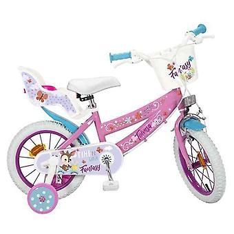 """Polkupyörä Fantasy Walk 14"""" Valkoinen Pinkki"""