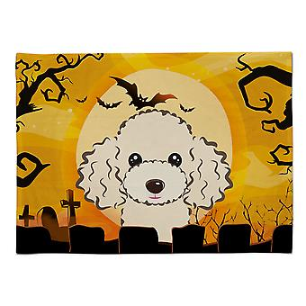 Caroline's Treasures BB1816PLMT Halloween Buff Pudel Stoff Tischset, Multicolor