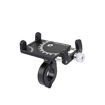 アルミ合金 アンバーセル 自転車 携帯電話 ホルダー(ブラック)