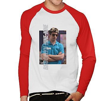 Brooklyn Ni-Ni Jake Blondt Hår Herre Baseball Langermet T-skjorte