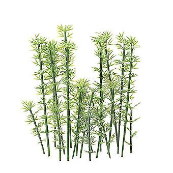 Enfants Toy 100 Pcs Green Plastic Modèle Bambous Échelle 1:75-1:300 Garden Decor Train