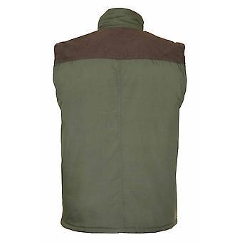 Mester Mens Exmoor Country Klær Polstret BodyWarmer Gilet Olive XL