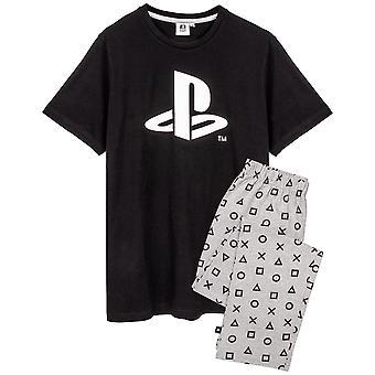 Playstation Mens Logo Long Pyjama Set
